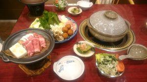 牛乳鍋+飛騨牛ほうば味噌焼